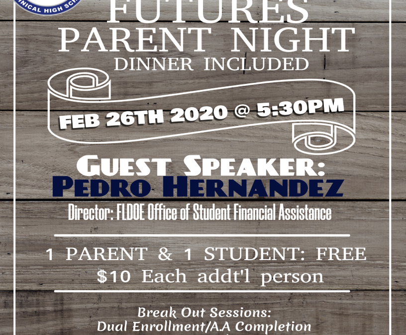Bright Futures Parent Night February 26th
