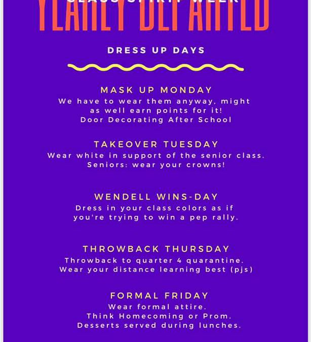 Yearly Departed Spirit Week March 8-12