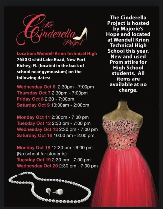 For anyone looking for Homecoming/Prom attire, consider the Cinderella Project if there is a need!